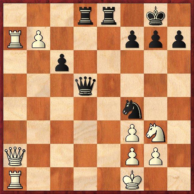 Grundlinienmatt: 1. ... Dd1+ 2.Txd1 Txd1# Schachfreunde Frankfurt 1921 e.V.