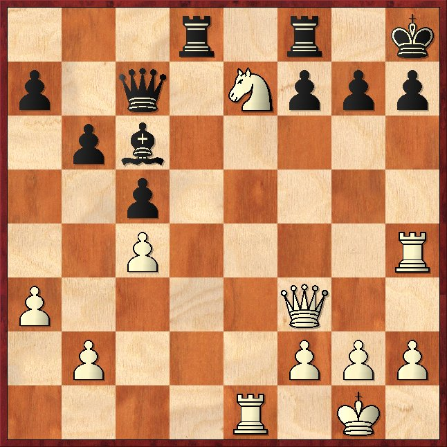 Grundlinienmatt: 1.Txh7+ Kxh7 2.Dh3# Schachfreunde Frankfurt 1921 e.V.