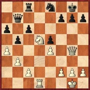 Schachfreunde Frankfurt 1921 e.V. Schach lernen, Schach trainieren, SchachspielenSpringergabel: 1.Dxc8 Dxc8 2.Se7+ Kf8 3.Sxc8 +- Taktikaufgaben I