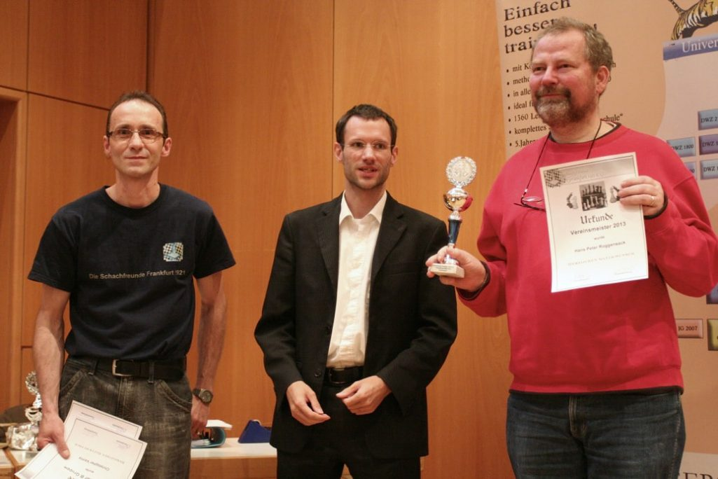 H.-P. Roggensack ist Vereinsmeister 2013 — Schachfreunde Frankfurt 1921 e.V.